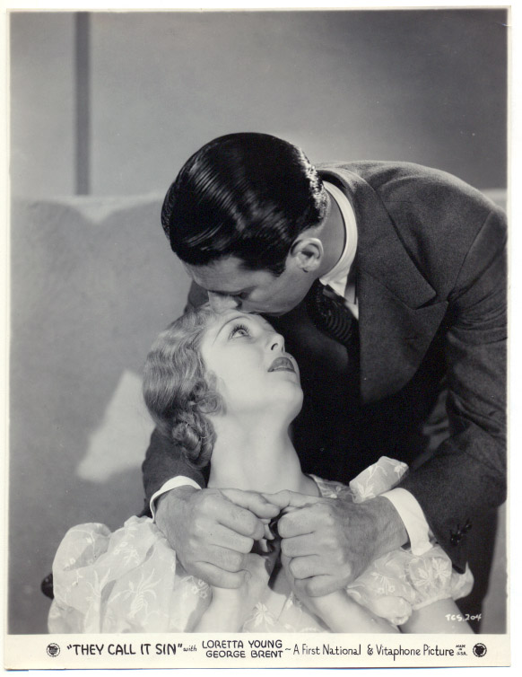 Loretta Young & George Brent in They Call It Sin (1932)