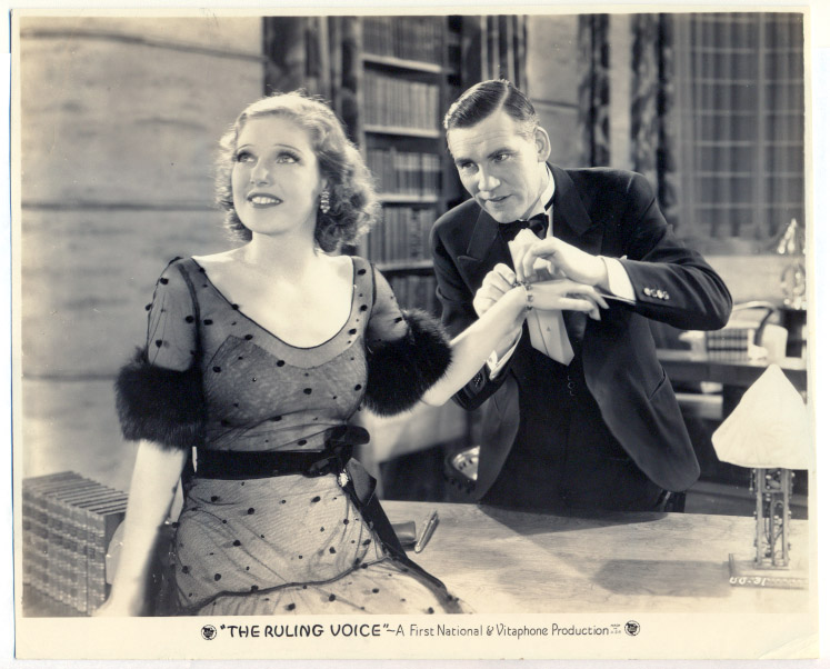 Loretta Young & Walter Huston in The Ruling Voice (1931)