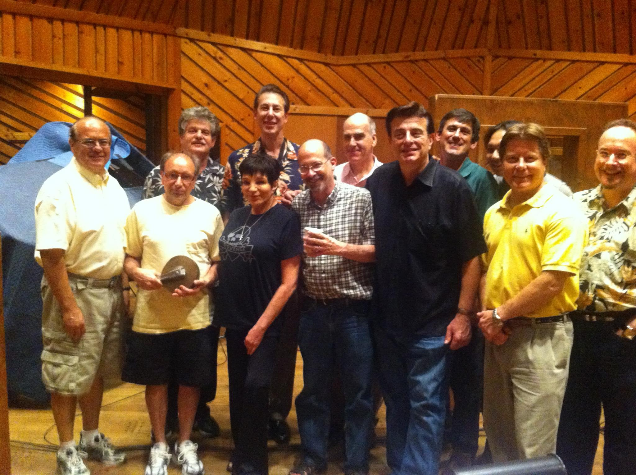 Vitaphone Project Co-Founder, bandleader Vince Giordano, with the Nighthawks and Liza Minelli recoding for the upcoming season of BOARDWALK EMPIRE