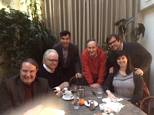 L to R: Ron Hutchinson of The Vitaphone Project, Curator of Film at MOMA Dave Kehr, Bow author David Stenn, silent comedy expert Steve Massa, Mike Mashon – head of The Library of Congress's Motion Picture Division