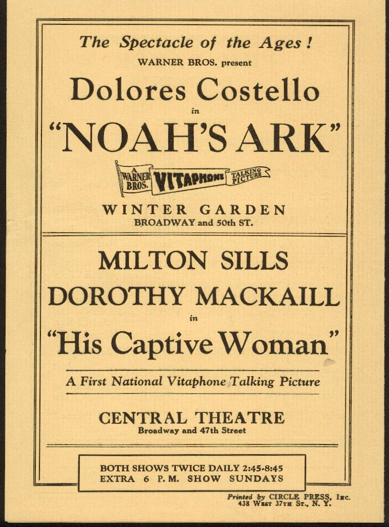 Noah's Ark Advertisement