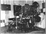 A 1928 Vitaphone disc projector set-up